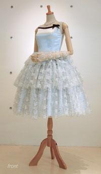 ミニ丈ドレス*お色直し-front-