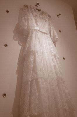 お母様のウエディングドレス