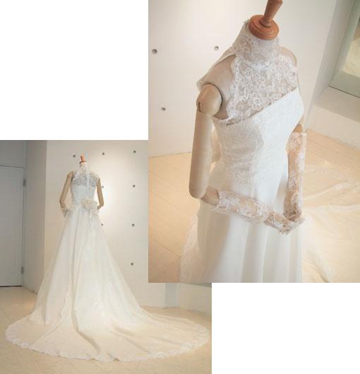 ハイネック&アメリカンスリーブドレス
