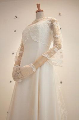 シフォンジョーゼットのドレス-front-