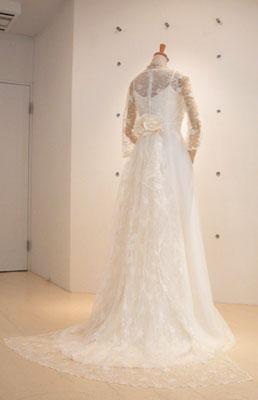 シフォンジョーゼットのドレス-back-