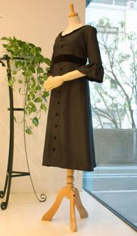 ブラックゲストドレス-front-