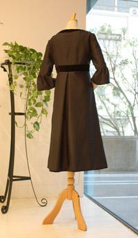 ブラックゲストドレス-back-