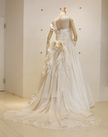 ビーズレースドレス-back-