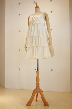 ティアードミニ丈ドレス